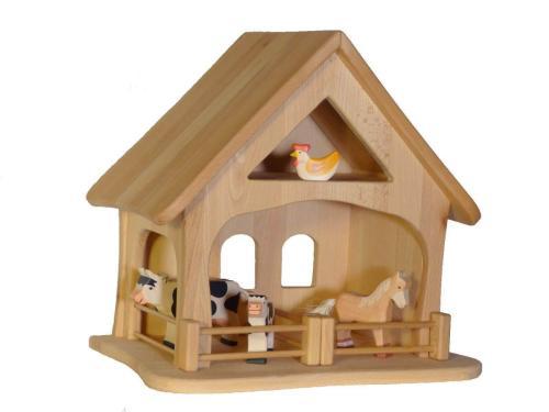 spannendes spielen holzbauernhof holz spielzeug peitz. Black Bedroom Furniture Sets. Home Design Ideas