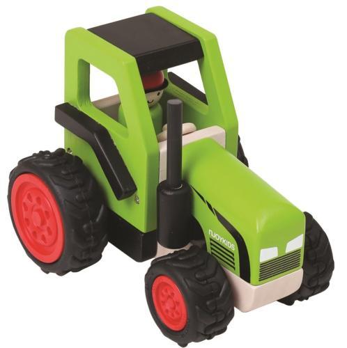 kinder traktor mit kipper anh nger holz spielzeug peitz. Black Bedroom Furniture Sets. Home Design Ideas