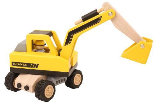 a08199cb45a89f Kinder-Baustellen-Löffelbagger aus Holz | Kinder-Holz-Fahrzeug 85712