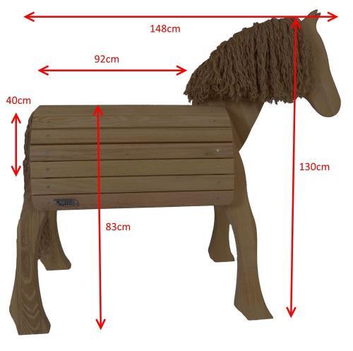 voltigierpferd! outdoor-holz-pferd! | holz spielzeug peitz