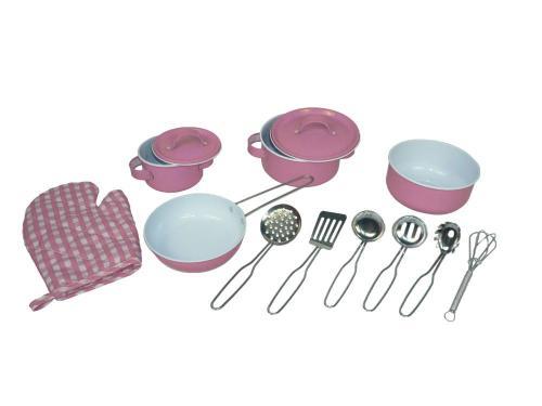 Delightful Kinderkochgeschirr Küchenhelfer Rosa 13 Teilig Kochtopfset Für Kinder Händen