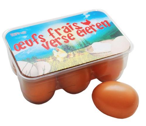 Kinder eierbox kaufladenzubehör holz spielzeug peitz
