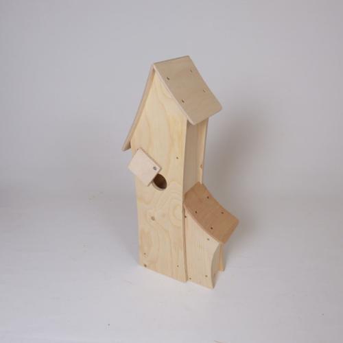 vogelhaus zum bemalen holz spielzeug peitz. Black Bedroom Furniture Sets. Home Design Ideas