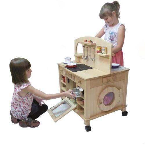 4-seitg bespielbare Kinder-Küche | Holz Spielzeug Peitz