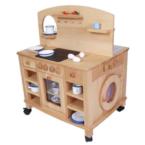 Holzspielkuche herd spielkuche holz spielzeug peitz for Spielküche kinder