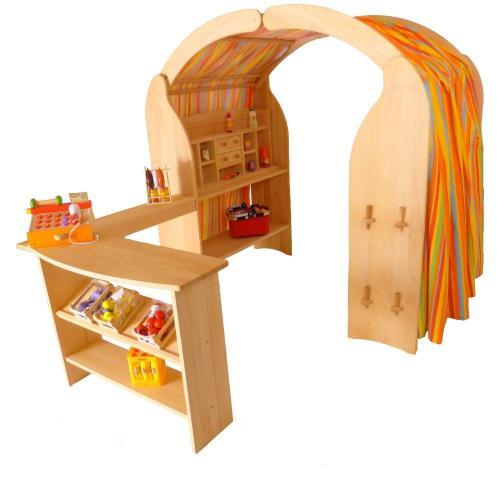 Spieltheke | Buchenholz | Kinder-Spielständertheke | Massiv 1013