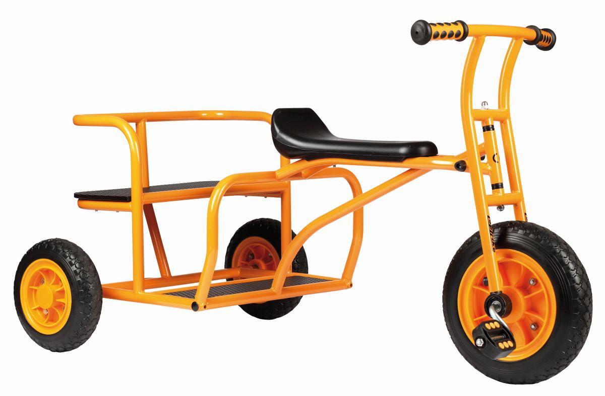 kinder dreirad doppeltaxi go cart kita fahrzeug. Black Bedroom Furniture Sets. Home Design Ideas