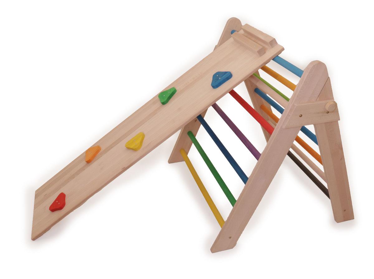Buntes Kletterdreieck Aktivspielzeug   Holz Spielzeug Peitz
