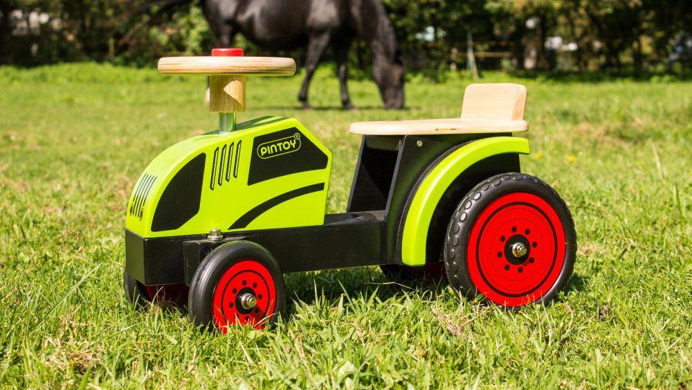 kinder fahrzeug aufsitz traktor holz spielzeug peitz. Black Bedroom Furniture Sets. Home Design Ideas