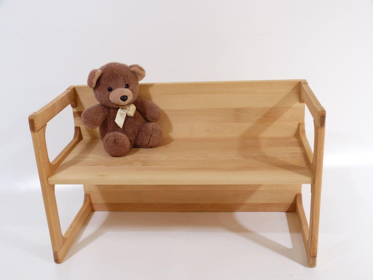 Wendebank Kinder | Ökolokisch Naturholz | Holz Spielzeug Peitz