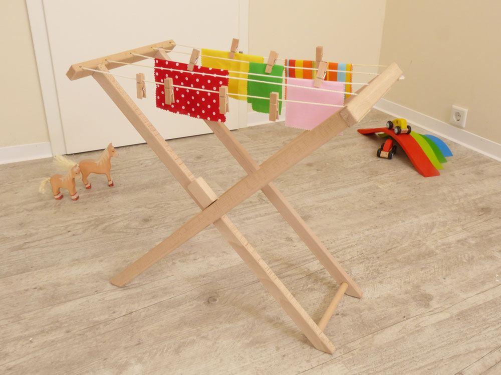 Wäscheständer Holz kinder wäschespinne wäscheständer holz spielzeug peitz