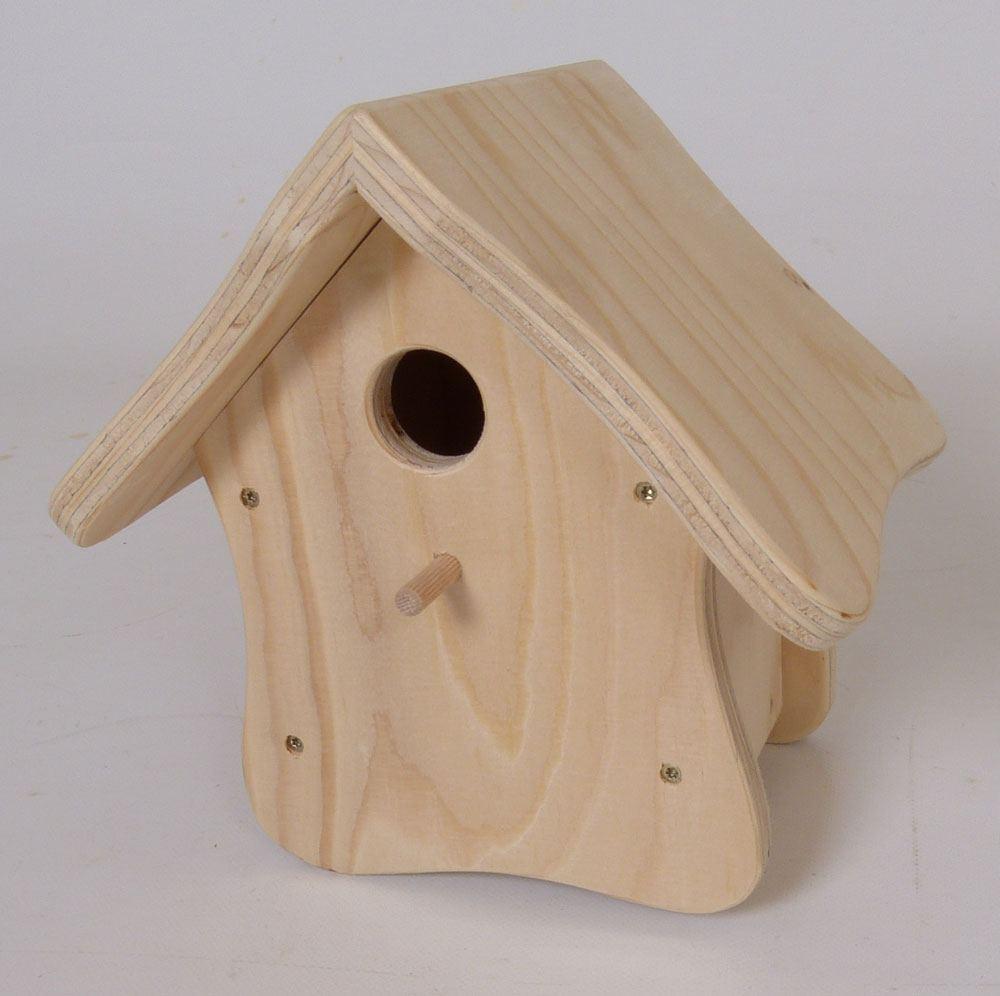 kleines vogelhaus zum bemalen holz spielzeug peitz. Black Bedroom Furniture Sets. Home Design Ideas