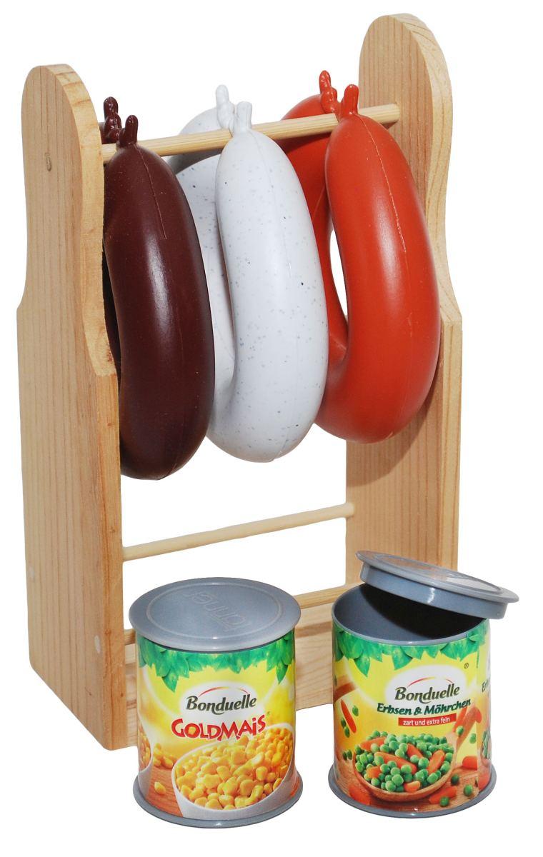Kaufladen! Kinder-Wurstständer | Holz Spielzeug Peitz