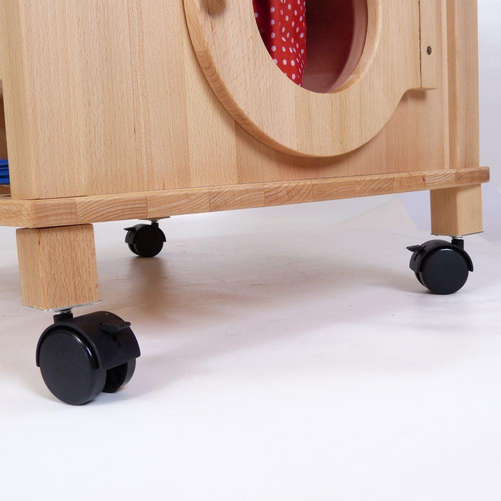 Feststellbare Rollen / Spielküche 2050 | Holz Spielzeug Peitz