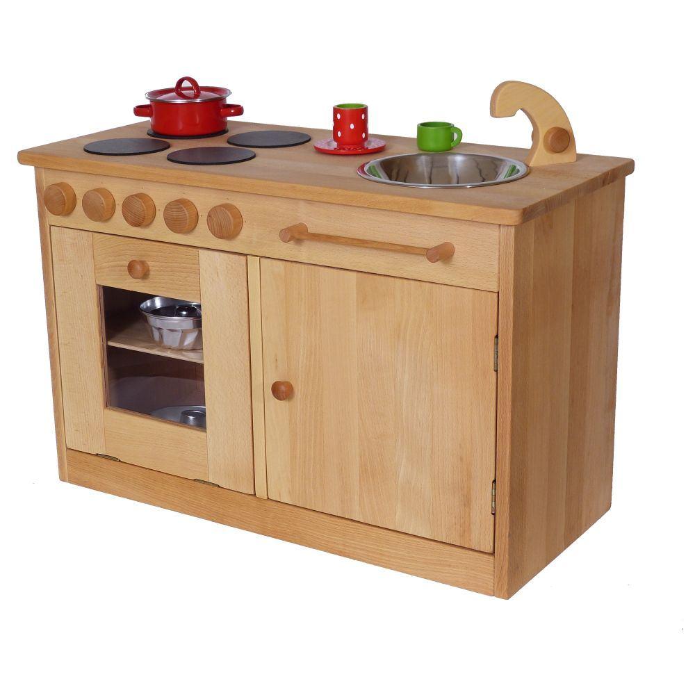Kindergarten-Spielküche Massiv U3 | Holz Spielzeug Peitz