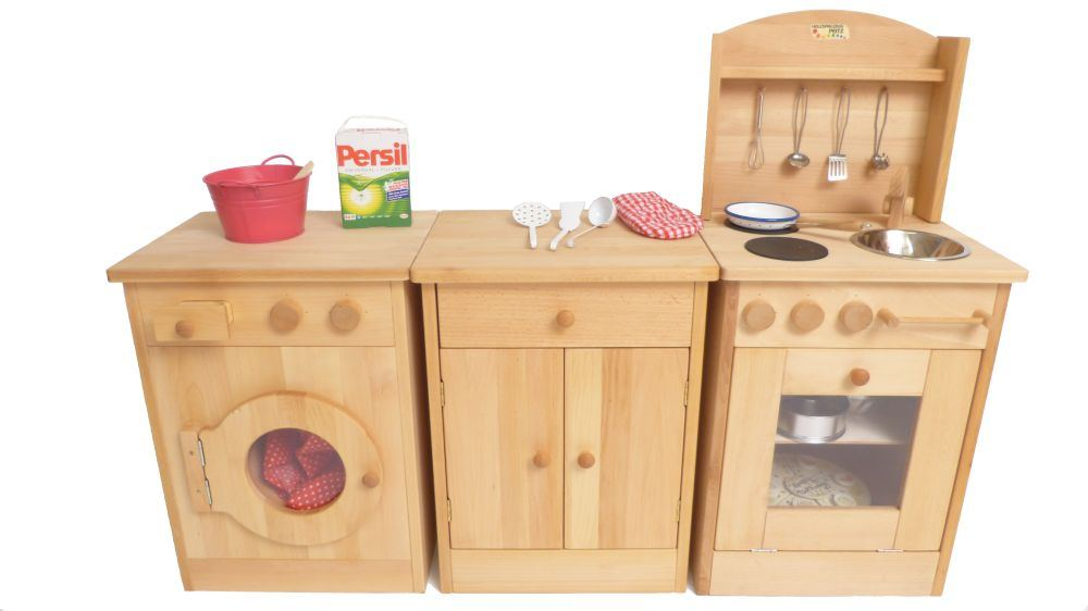 kinder k chenblock waschmaschine holz spielzeug peitz. Black Bedroom Furniture Sets. Home Design Ideas