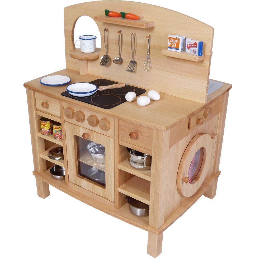 Küche für kleinkinder  4-seitg bespielbare Kinder-Küche | Holz Spielzeug Peitz