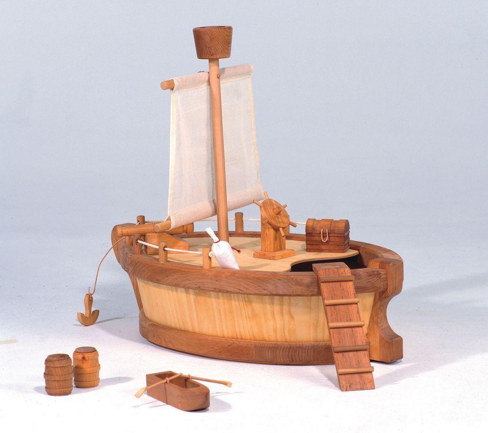 natur holz arche kinder segelschiff holz spielzeug peitz. Black Bedroom Furniture Sets. Home Design Ideas