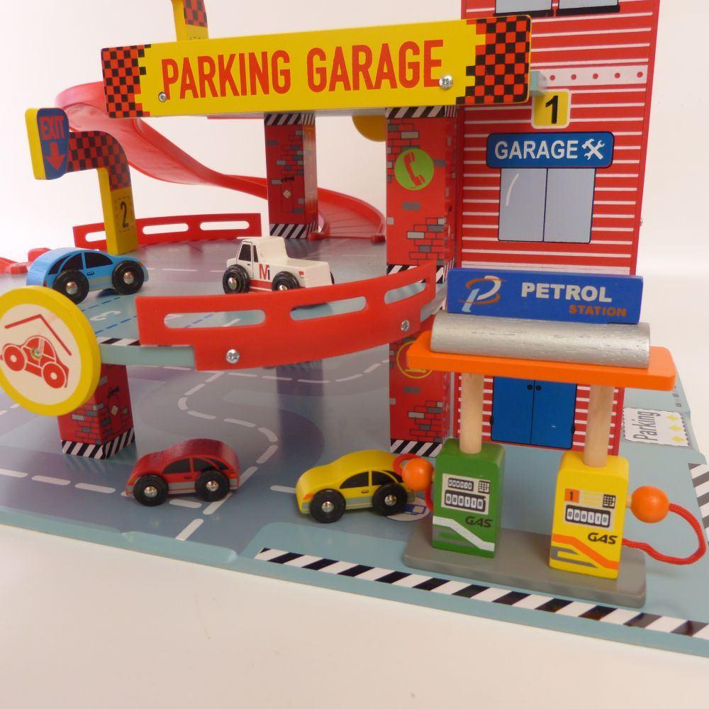 Kinder parkgarage für kleine autos holz spielzeug peitz