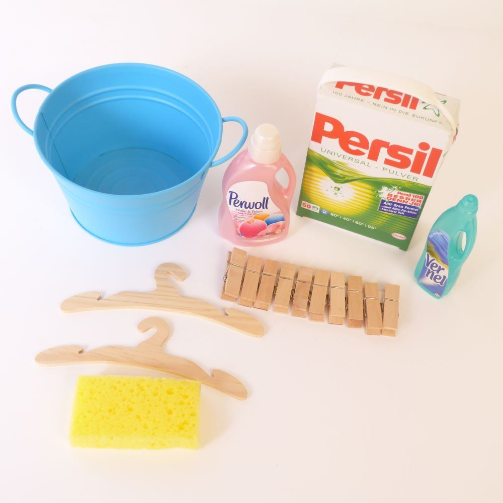 Kinder waschzuber waschmittel holz spielzeug peitz