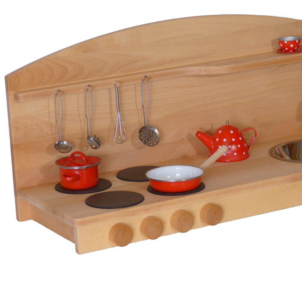 Platzsparend! Kinder-Tisch-Küche | Holz Spielzeug Peitz