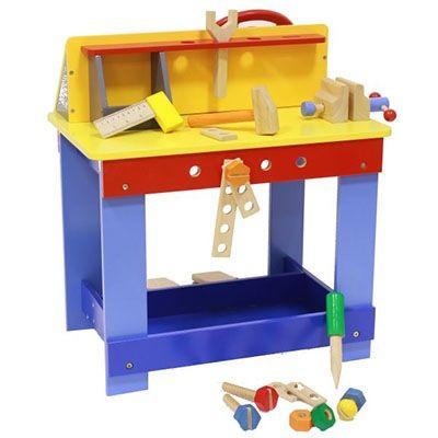 Kinderwerkbank / Auto-Fahrsimulator | Holz Spielzeug Peitz