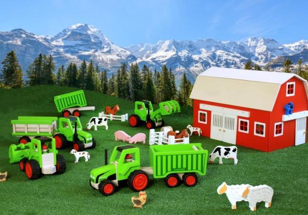 ko spielzeug holz bauernhof traktor holz spielzeug peitz. Black Bedroom Furniture Sets. Home Design Ideas