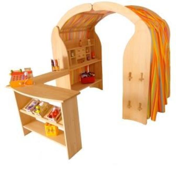 Kinder Spielständer 1020 Holz Buche | Waldorf Spielhaus Schatzhöhle