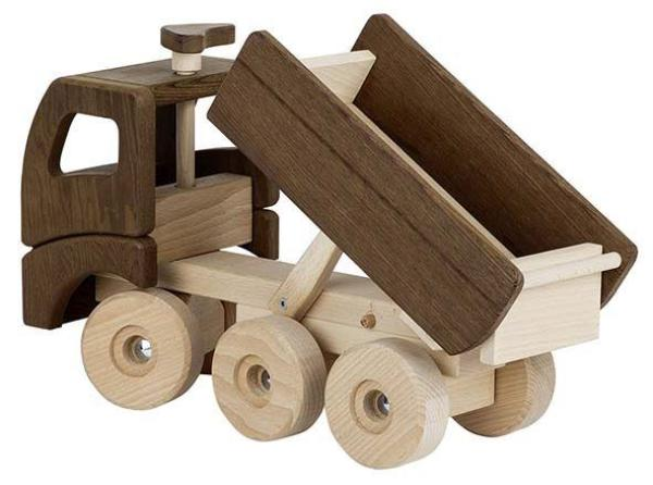 kinder fahrzeug lkw kipplaster holz spielzeug peitz. Black Bedroom Furniture Sets. Home Design Ideas