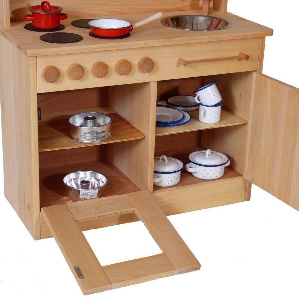 attraktiv! - kinder-spielzeugküche aus massivholz | holz spielzeug,