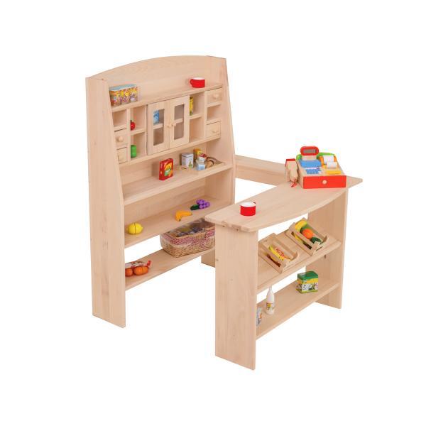 kaufladen kinderkaufladen kaufmannsladen aus holz 3015. Black Bedroom Furniture Sets. Home Design Ideas