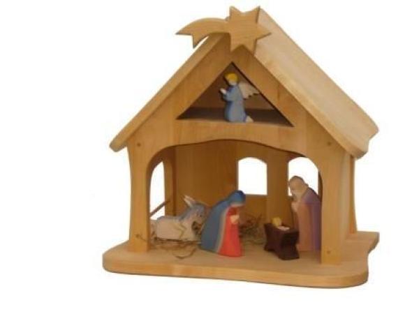 massivholz krippen stall weihnacht holz spielzeug peitz. Black Bedroom Furniture Sets. Home Design Ideas