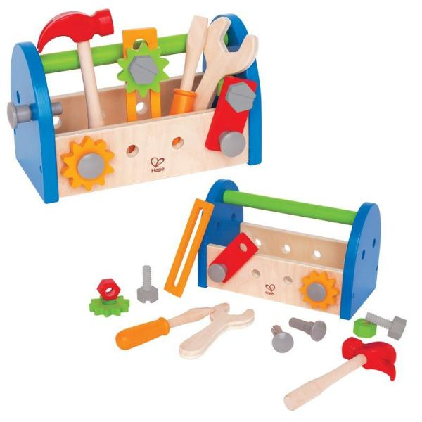 blauer kinder werkzeug kasten holz spielzeug peitz. Black Bedroom Furniture Sets. Home Design Ideas